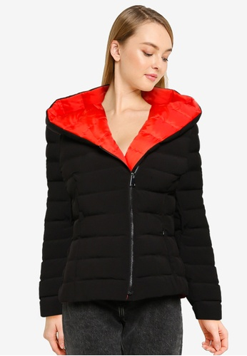 French Connection black Iola Puffa Coat 155F8AA3439951GS_1