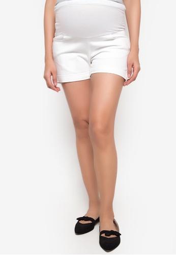 BUNTIS white Shirley Maternity Shorts BU698AA96XVNPH_1