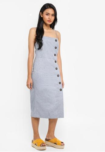 WAREHOUSE 藍色 Button Column Dress EAC6EAADEBA8B7GS_1