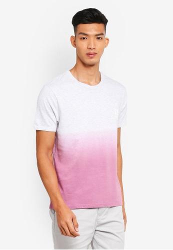 Burton Menswear London 粉紅色 短袖漸層印花T恤 EA040AA9E80EDFGS_1