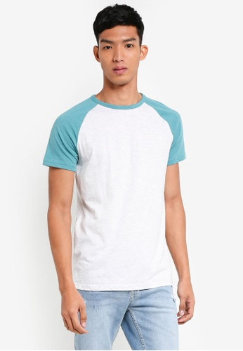 Burton Menswear London 綠色 撞色短袖T恤 45B98AABFB24DBGS_1