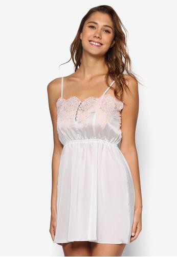 Lucy 蕾絲邊飾睡裙esprit門市, 服飾, 睡衣, 睡裙和連身內衣