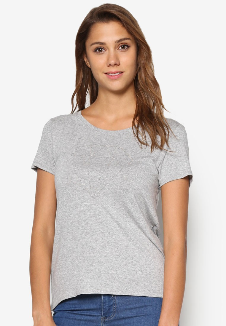 ONLY ONE Alice Short Sleeve Diamond Top