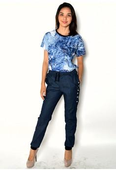 Women's Jogger Pants Side Buttoned