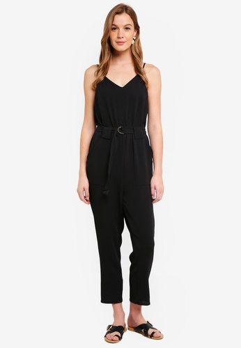 Cotton On black Woven Strappy Jackie Jumpsuit 00402AAF508ADDGS_1
