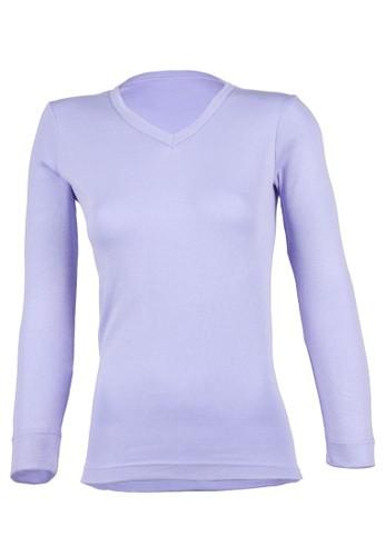 Magnolizalora 折扣碼a V 領長袖衫, 服飾, 服飾