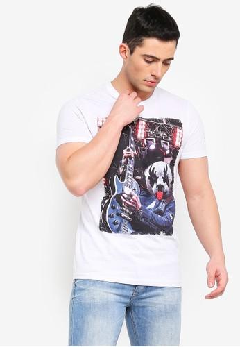 Brave Soul white Panda T-Shirt with Photographic Burnout Chest Print 5E68FAAFF32510GS_1