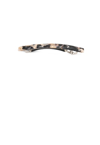 Glamorousky black and brown Simple Fashion Yellow Pattern Geometric Hair Clip EBF6EAC0C90B87GS_1
