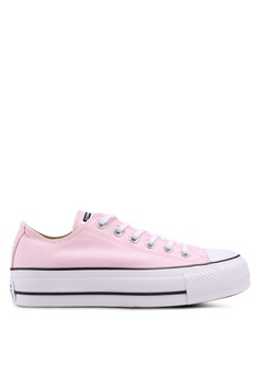 6197e6fabeb8 Converse black and white and pink Chuck Taylor All Star Lift Ox Sneakers  5AC6FSHC82C396GS 1