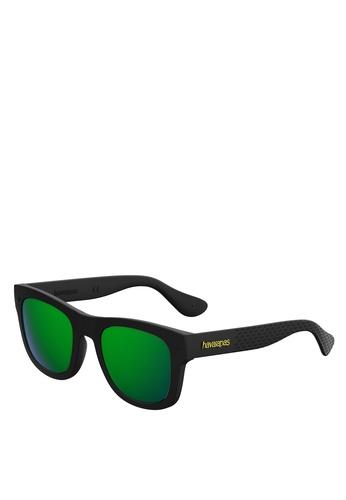 Havaianas black and green PARATY/L Sunglasses 6F0F5GL653B74EGS_1