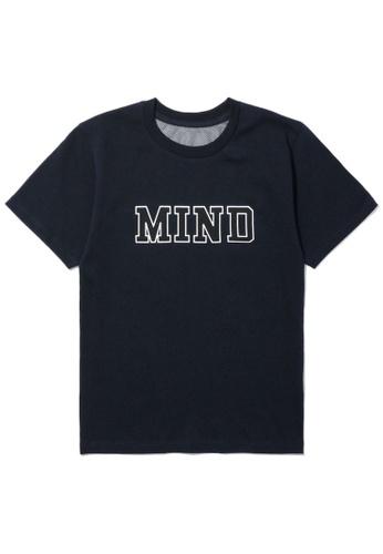 "b+ab navy ""MIND"" tee 219E8AAAD7CD8DGS_1"