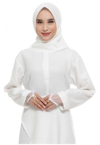 First Hijab beige Ringplain Handsock In Cream (Bundling Package) 76072AADFE8E6BGS_1