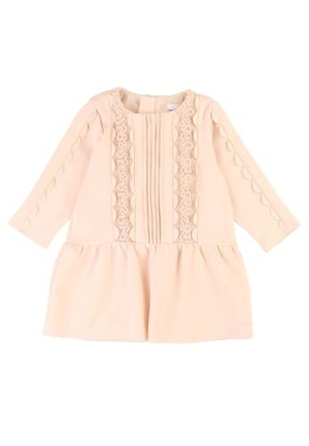 Chloé pink Chloé Elegant Dress with French Braid Embroidery 9A86AKA85D65E3GS_1
