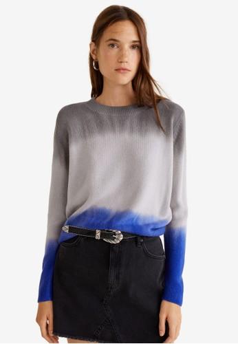 MANGO multi Tricolor Knit Sweater 04592AA181A25DGS_1
