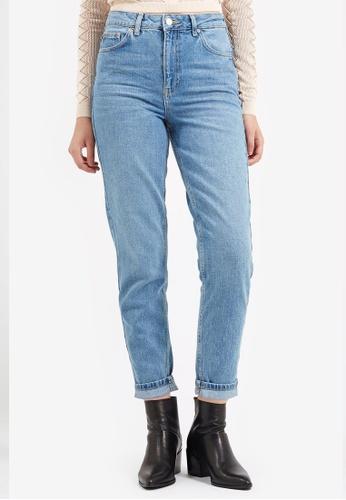 f415e8fa4f70 Shop TOPSHOP MOTO Mid Blue Mom Jeans Online on ZALORA Philippines