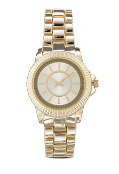 【ZALORA】 Textured Bezel Chain Strap Watch