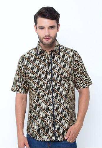 Batik Indra Loka Short Sleeve Slim Fit Soga Susu