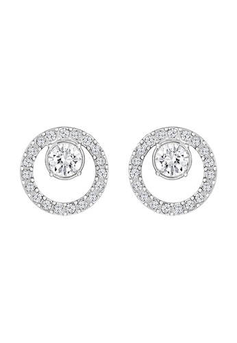 002714956d7110 Swarovski silver Creativity Circle Pierced Earrings C0DCCACFBF09E7GS 1