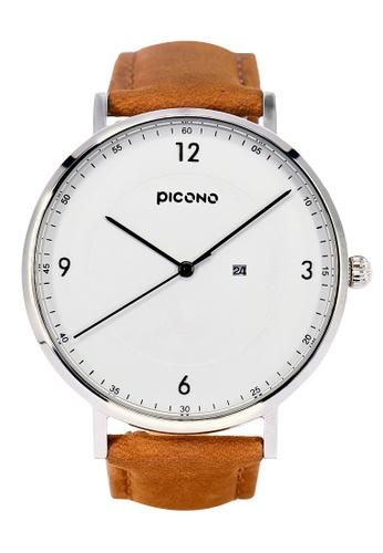 PICONO Watches white VINYL Minimalist Leather Strap Watch PI771AC2VUSEHK_1