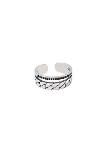 OrBeing 白色 Premium S925 Sliver Geometric Ring 7B833AC2C79073GS_1