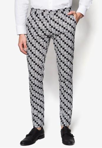 千鳥格紋超貼身長褲, esprit高雄門市服飾, 窄管褲