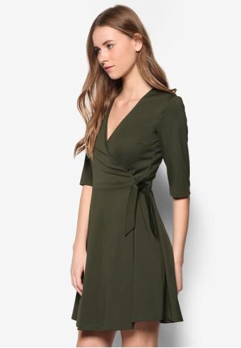 Collection Wrapped Midi Dress, 服飾, 及膝zalora 心得 ptt洋裝