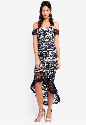Buy MISSGUIDED Bardot Lace Fishtail Midi Dress Online on ZALORA ... e4f236d4d