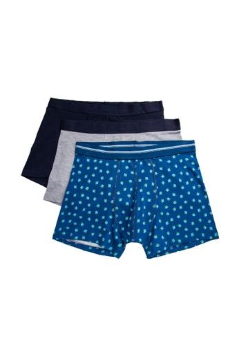 KOTON blue 3-Pack Boxers BDDD3USF96E402GS_1