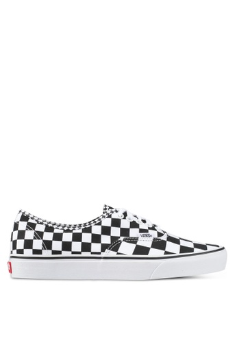 VANS black and white Authentic Mix Checker Sneakers VA142SH0SWMUMY_1