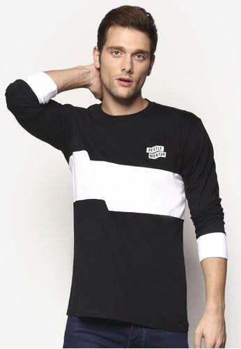 esprit服飾品牌設計色塊長袖衫, 服飾, 服飾
