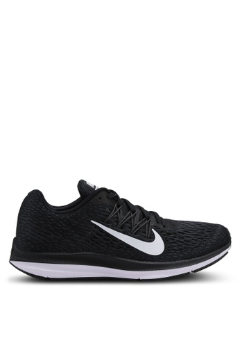 Nike black and white Men's Nike Air Zoom Winflo 5 Running Shoes C83C5SH6A66416GS_1