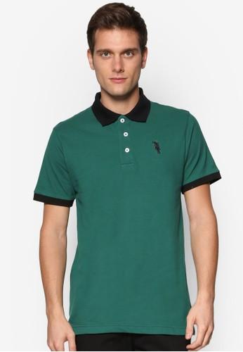 撞色領男裝POLOesprit香港分店 衫, 服飾, Polo衫