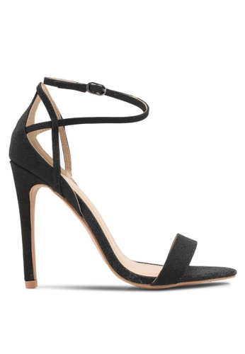 Public Desire black Balance Strappy Barely There Heels PU378SH0SIP7MY_1