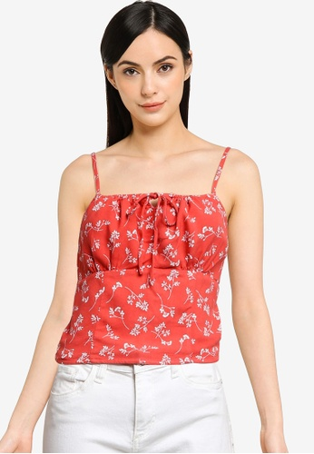 Abercrombie & Fitch red Pami Set Top 70D84AA7CCE94FGS_1