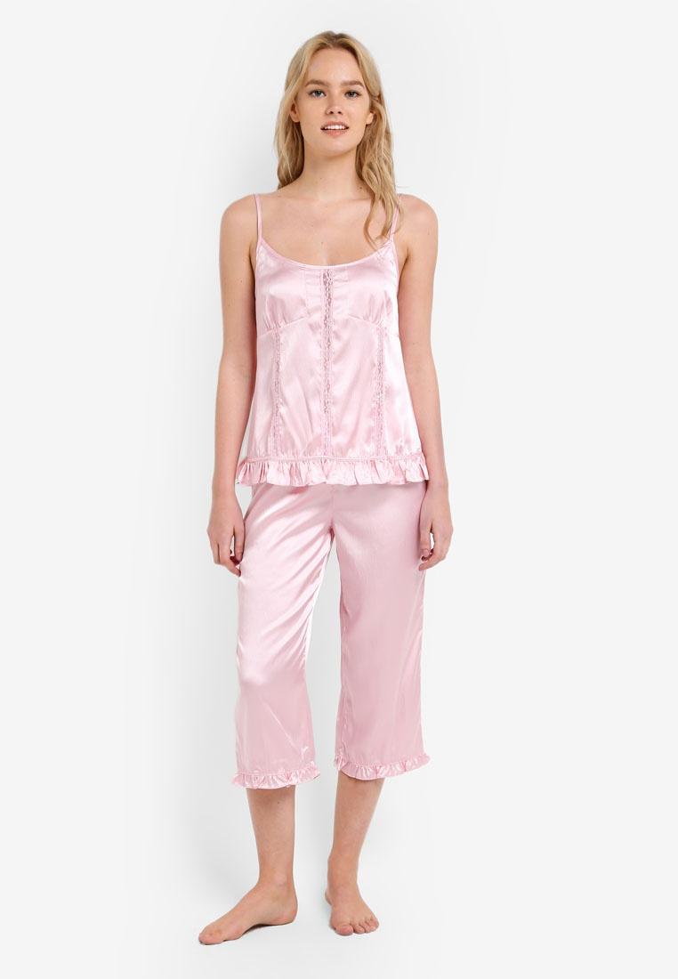 Satin Impression Satin Satin Pink Impression Impression Pink Set Set Camisole Camisole qZ60ZXw