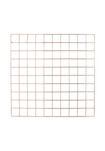 DILAS HOME pink Metallic Wire Wall Grid (Rose Gold) ECC80HL2C70DA0GS_1