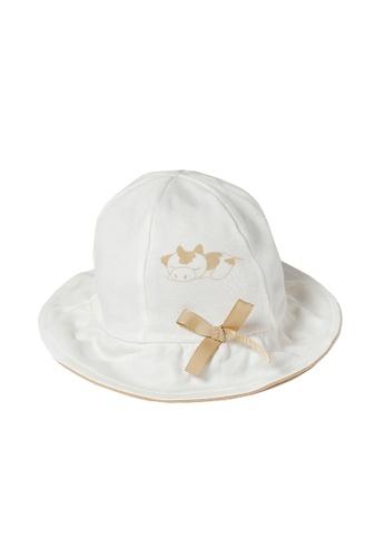 Vauva white Vauva My MY Milk Fiber Bucket Hat 95C91KCBDFD222GS_1