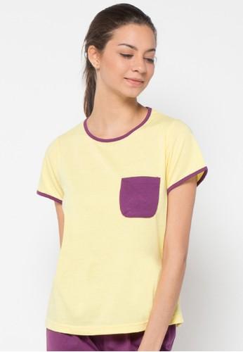 Puppy yellow and purple Tina Sleepwear PU643AA17KCCID_1