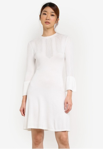 Miss Selfridge white Fit And Flare Knit Dress MI665AA0SD8IMY_1