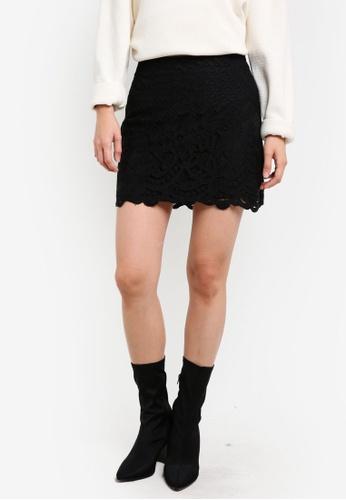 Free People black Dreamy Days Mini Skirt FR659AA0SD04MY_1