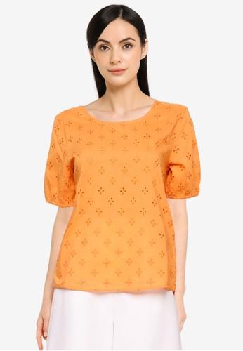 JACQUELINE DE YONG orange JDYVERA LIFE S/S  TEE WVN 23157AA38CF0CFGS_1