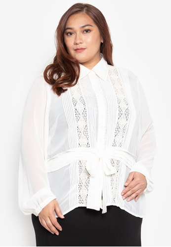 Fashion Fanatix white Long Sleeve Plus Size Victorian Blouse 92530AA1593033GS_1