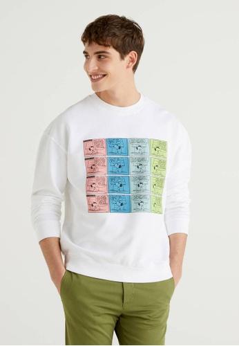 United Colors of Benetton white Peanuts Printed Sweatshirt BD186AA213D15DGS_1