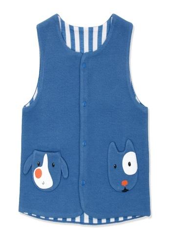 Organic mom blue Organic Cotton Baron Dog Vest Jacket FC71EKAAE72E6EGS_1