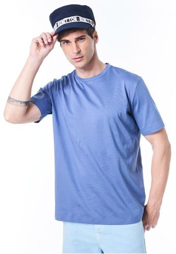 United Colors of Benetton blue Crew Neck T-shirt 0EC60AA4733519GS_1