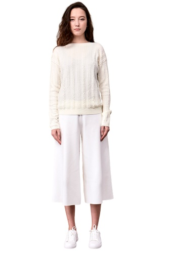 22 Factor white Katie Dimensional Cable Merino Wool A1AB5AA7261FECGS_1