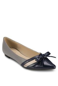 【ZALORA】 Ginny 蝴蝶結拼接尖頭平底鞋