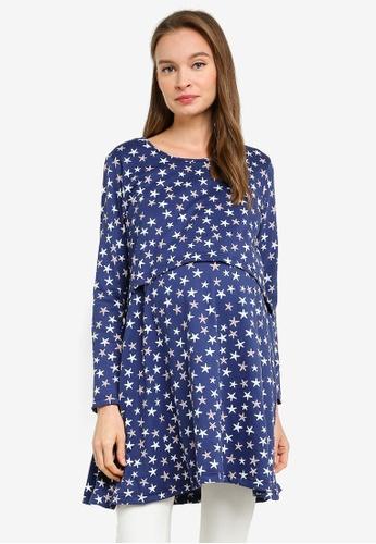 Aqeela Muslimah Wear blue Nursing Tunic Top 12C94AA27E59D6GS_1