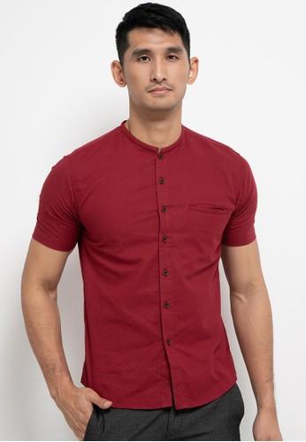Introspect clothing red Kemeja Koko F20EDAA3F444E7GS_1