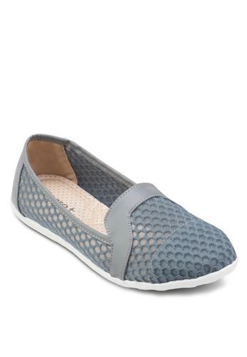 網眼esprit hk outlet圓頭平底鞋, 女鞋, 芭蕾平底鞋